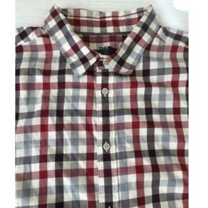 The North Face Red Grey Plaid Shirt Mens XL
